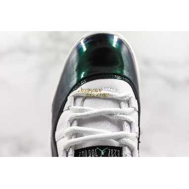 "best replicas Air Jordan 11 Retro Low ""Emerald"" 528895-145 Mens white/emerald rise-black Shoes"