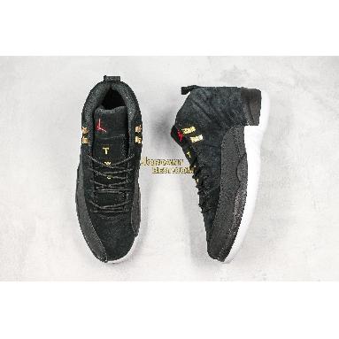 "new replicas Air Jordan 12 Retro ""Reverse Taxi"" 130690-017 Mens black/white-taxi-black Shoes"