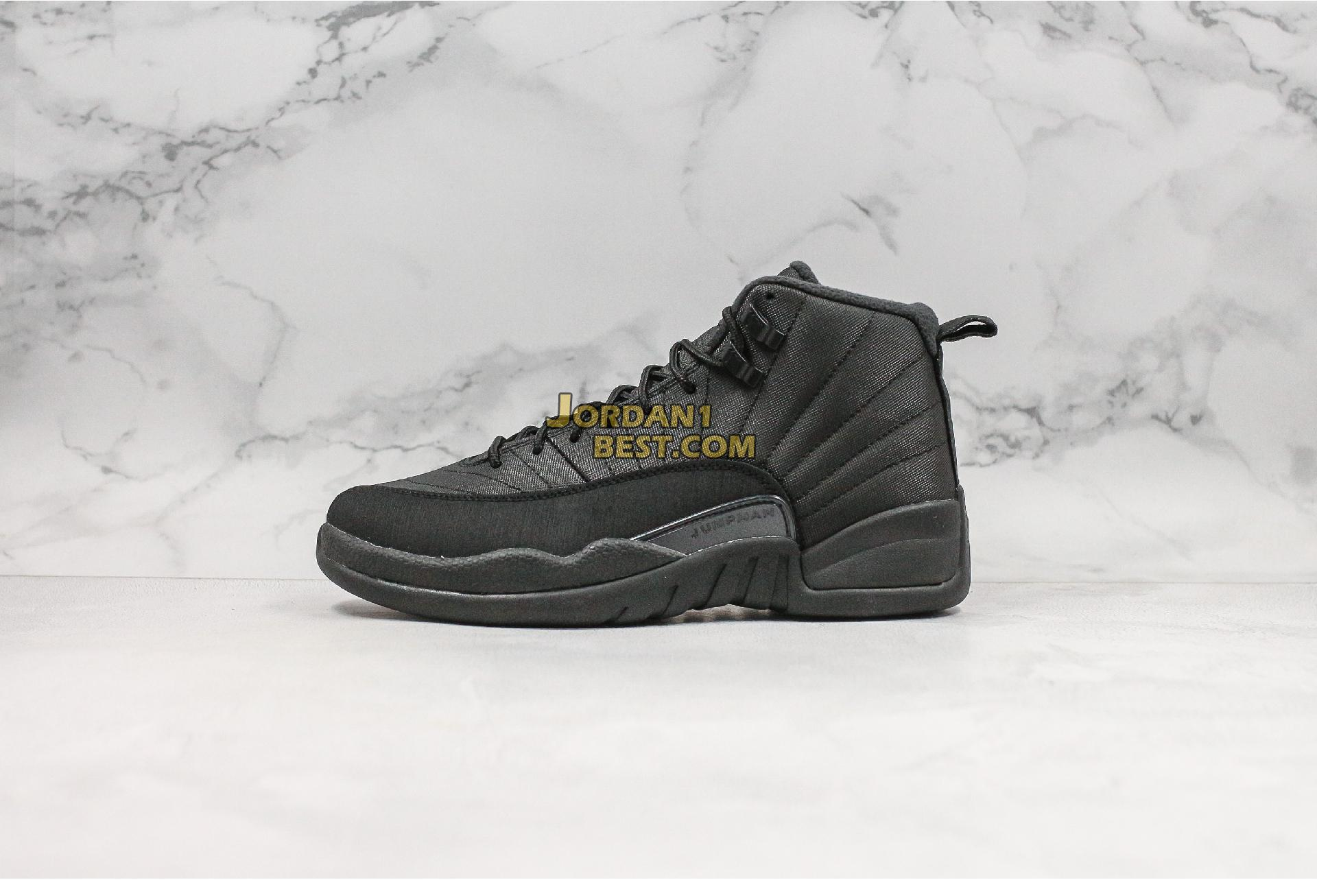 "Air Jordan 12 Retro Winterized ""Triple Black"" BQ6851-001 Mens"