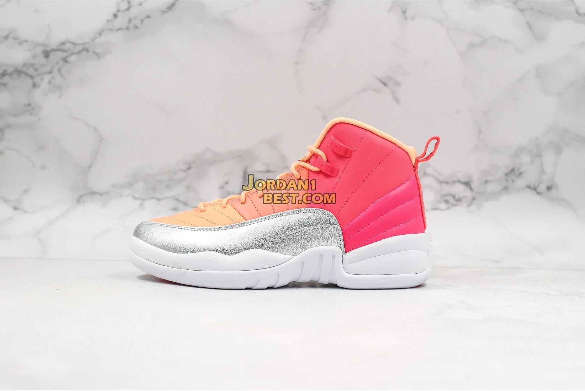 """Air Jordan 12 Retro GS """"Sunrise"""" 510815-601 Womens"""