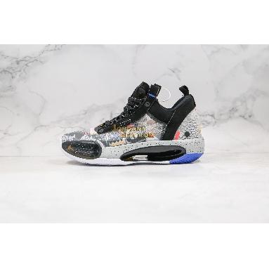 """fake Air Jordan 34 Low """"Heritage"""" CZ7745-008 Mens black/laser orange/white Shoes"""