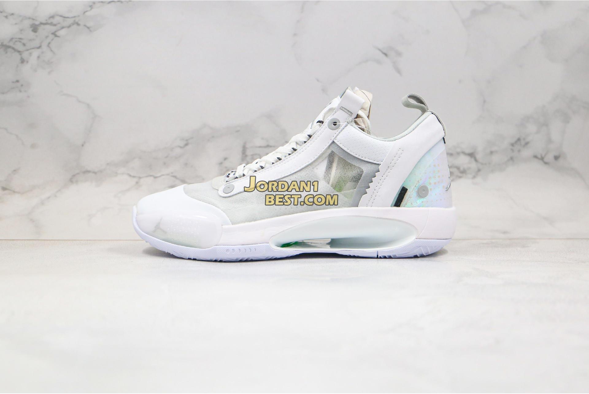 "Air Jordan 34 Low PF ""Pure Money"" CU3475-100 Mens"