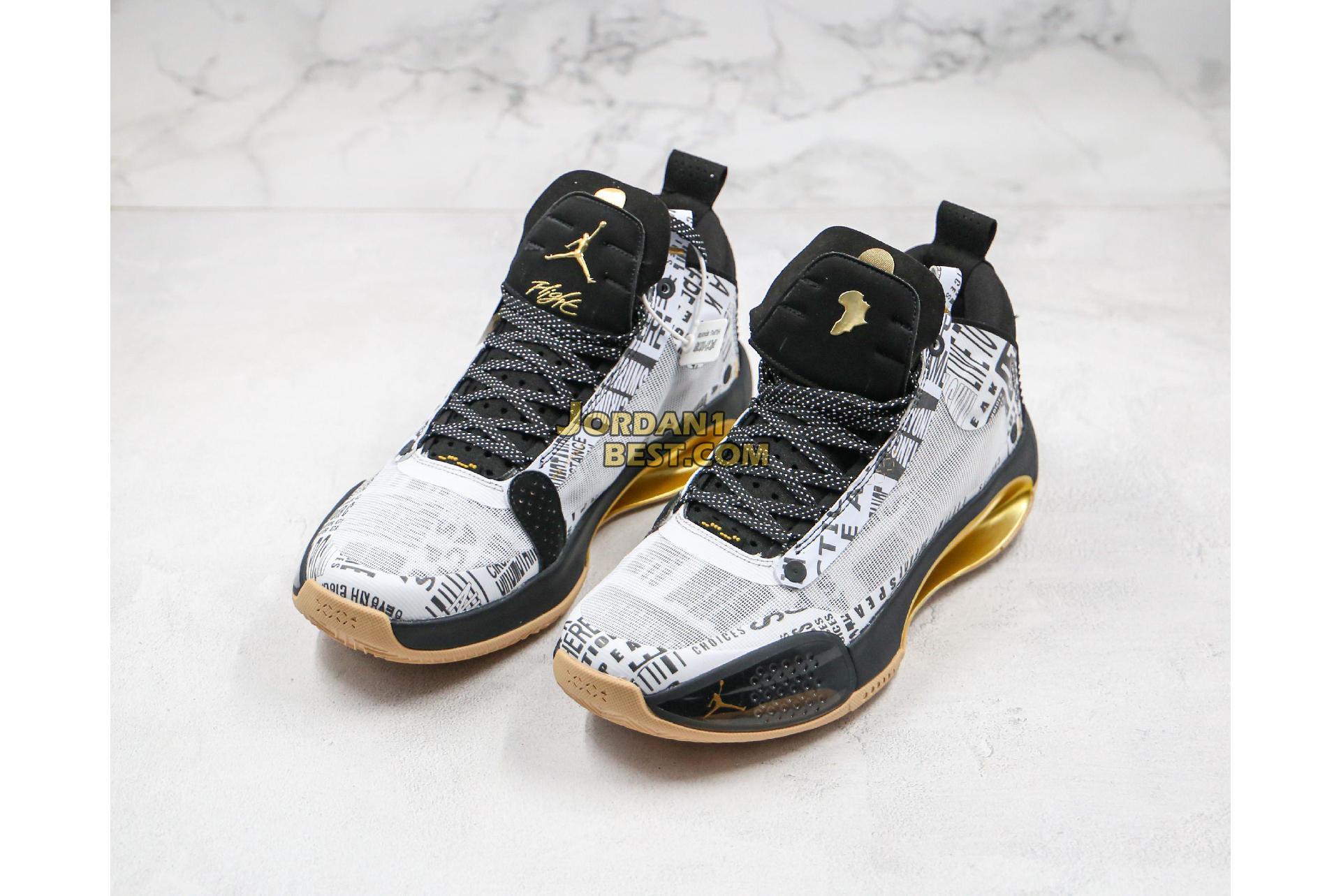"""Air Jordan 34 Low """"Black Cat"""" BQ3381-036 Mens"""
