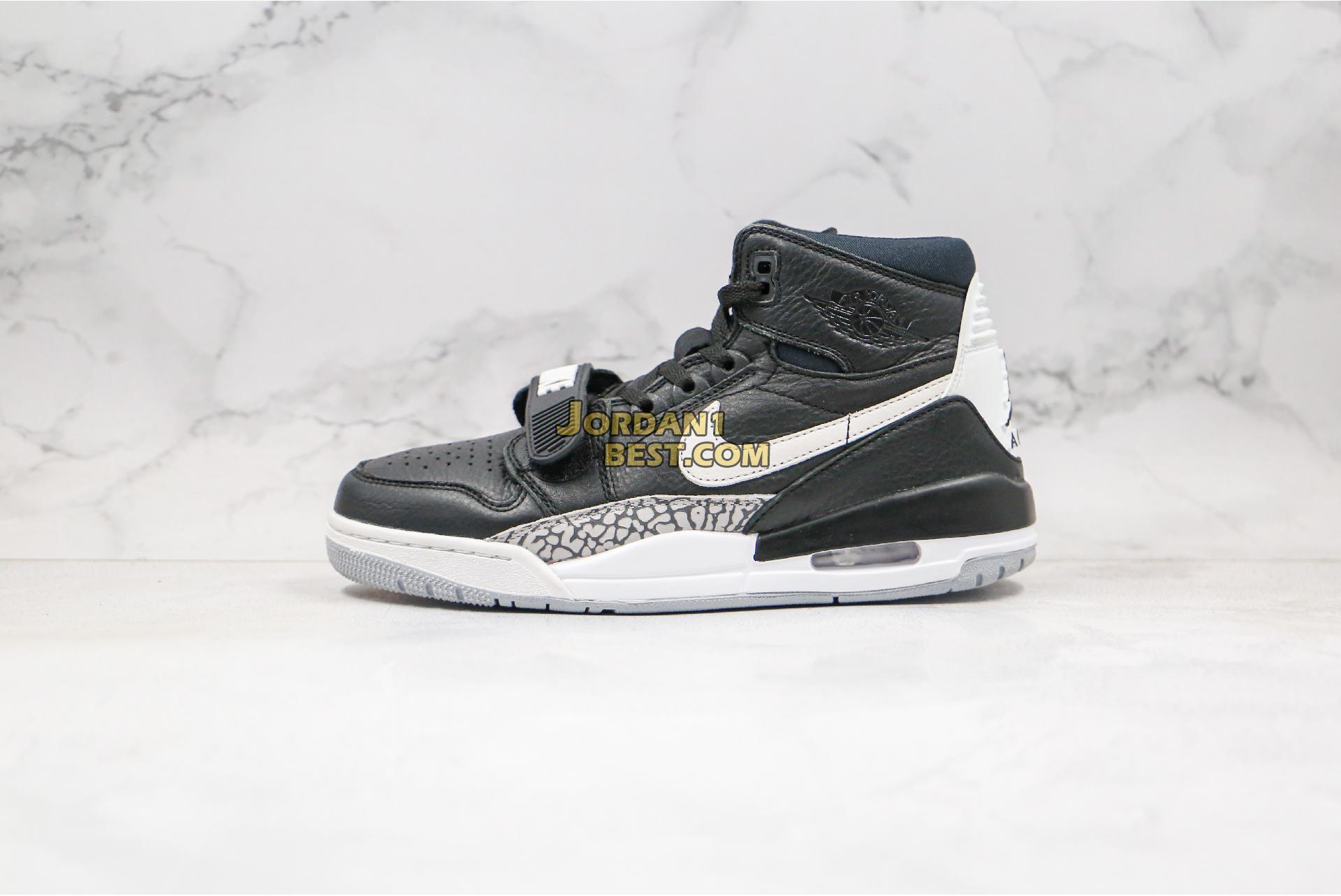 "Air Jordan Legacy 312 ""Black Cement"" AV3922-001 Mens"