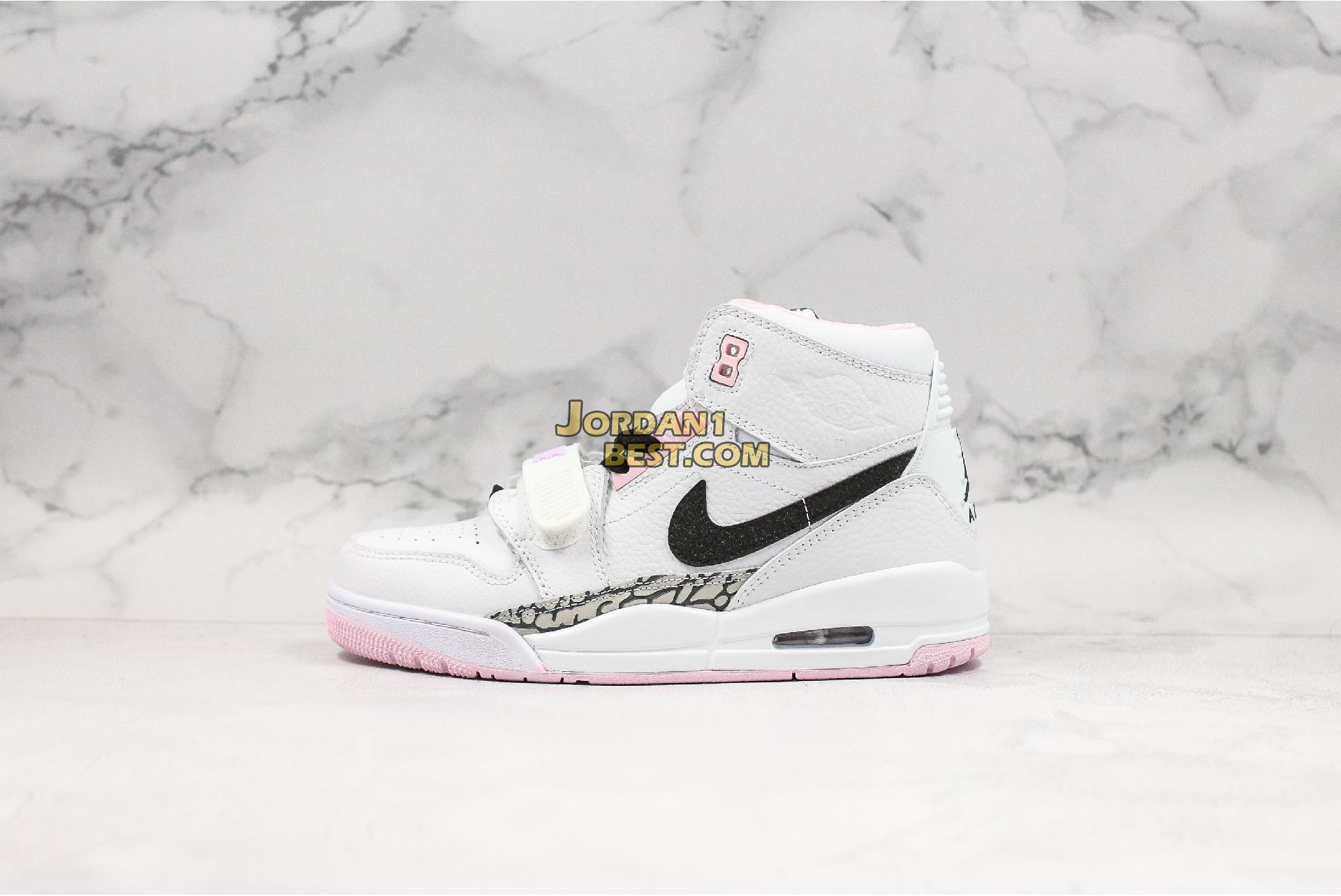 "Air Jordan Legacy 312 GS ""White Black Pink Foam"" AT4040-106 Womens"