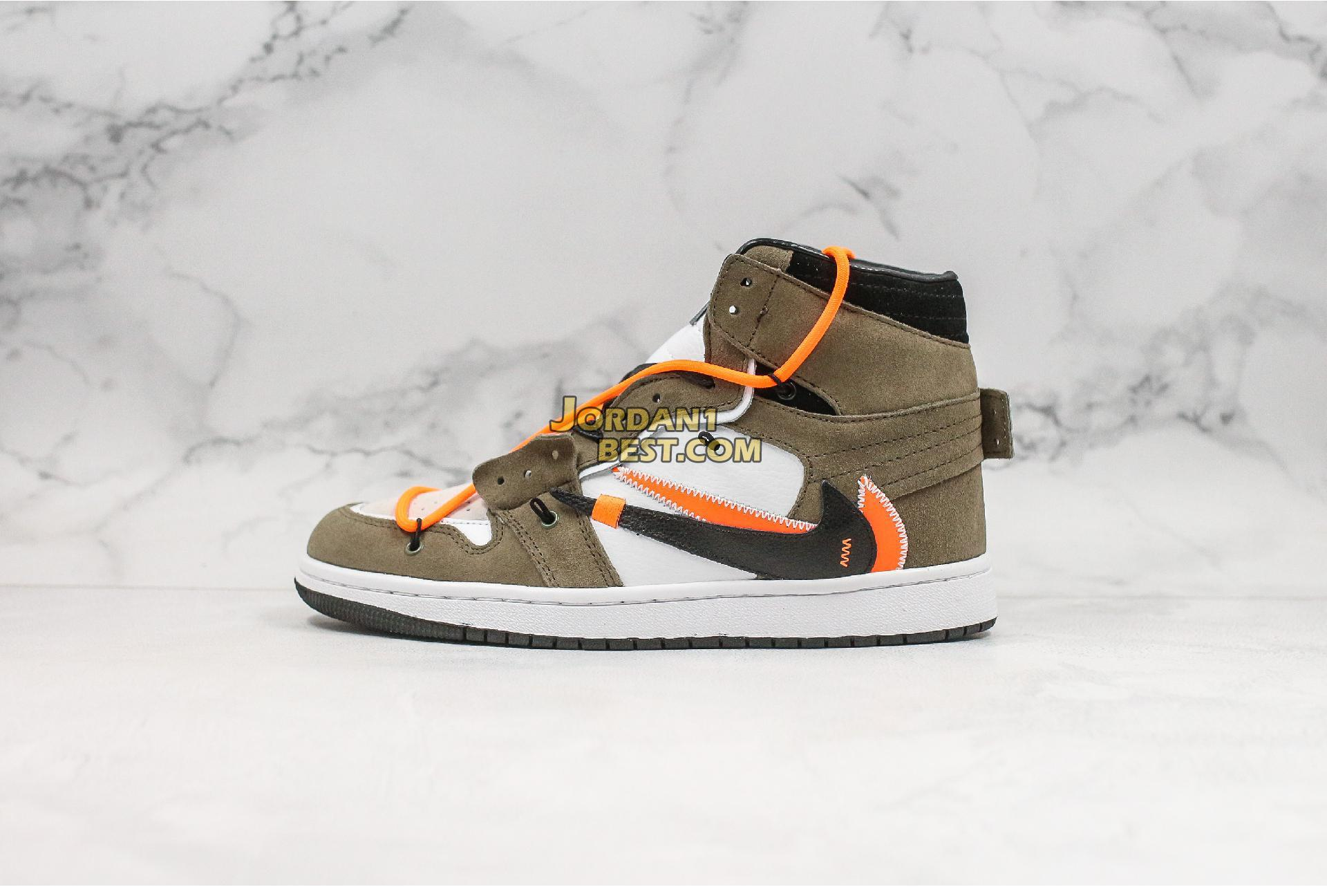 "Off-White x Futura x Air Jordan 1 Retro ""OW White Brown"" 52937-612 Mens Womens"