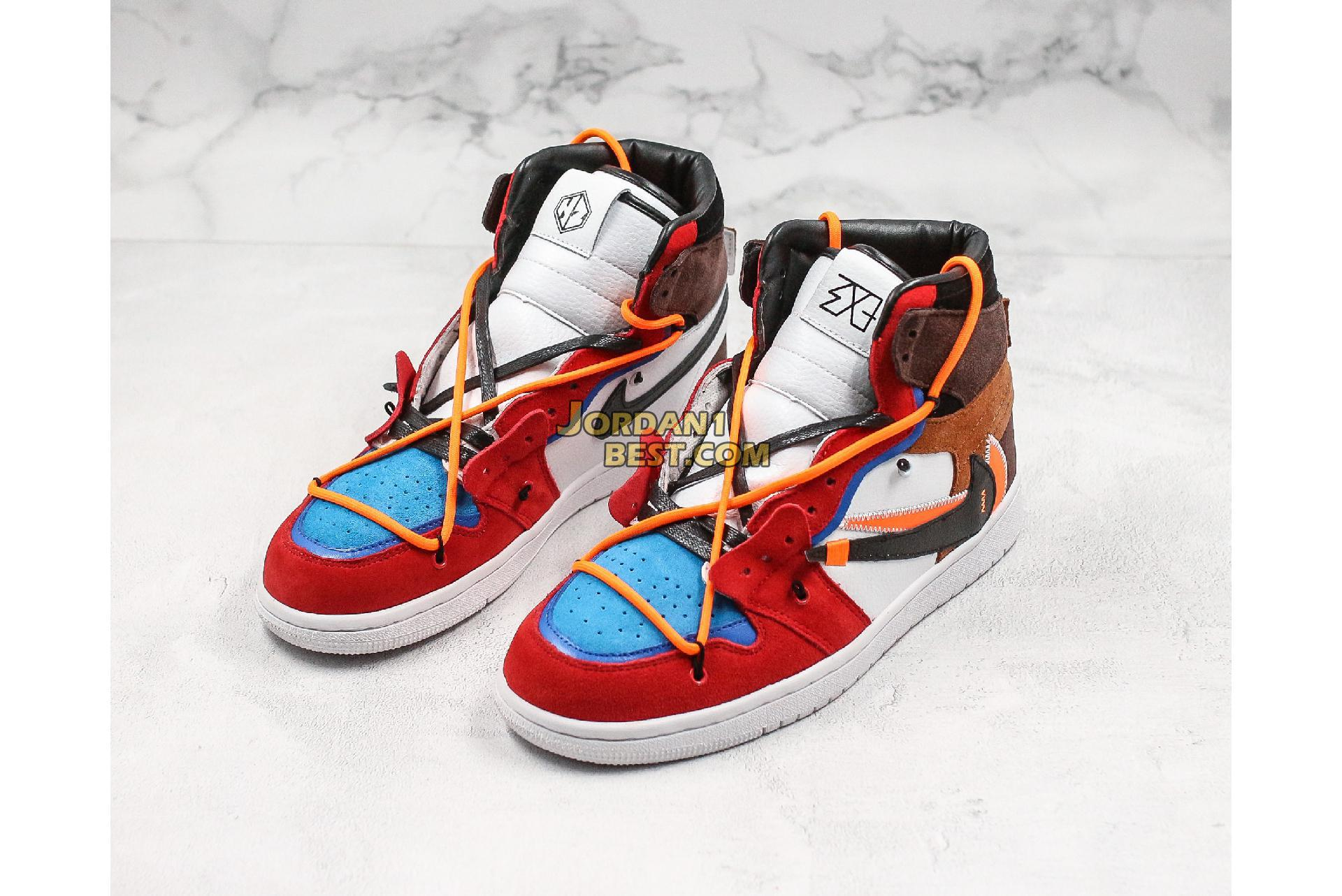 "Off-White x Futura x Air Jordan 1 Retro ""OW Red Brown"" 52937-610 Mens Womens"