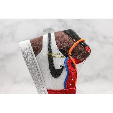 "fake Off-White x Futura x Air Jordan 1 Retro ""OW Red Brown"" 52937-610 Mens Womens red/brown/white/blue/orange/black Shoes"